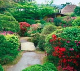 画像:4月 依水園(奈良) 日本の美 2020年カレンダー