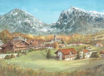 画像:9-10月 グリンデルワルト(スイス) ヨーロッパ散歩道 2020年カレンダー
