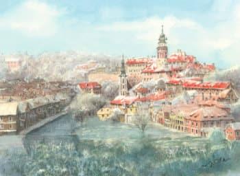 画像:11-12月 チェスキー・クルムロフ(チェコ) ヨーロッパ散歩道 2020年カレンダー