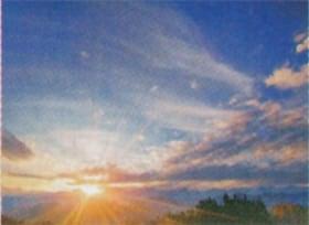 画像:10月 朝焼けのうろこ雲 SORA - 空 -  2020年カレンダー