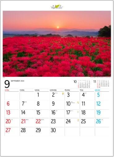 画像:奈良県 フォーエバージャパン 2020年カレンダー