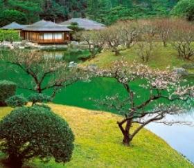画像:1-2月写真 栗林公園(香川) 四季の庭 2020年カレンダー