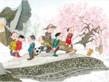 画像:1-2月 新しい春 風の詩・中島潔作品集 2020年カレンダー