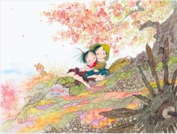 画像:9-10月 ふれあい 風の詩・中島潔作品集 2020年カレンダー