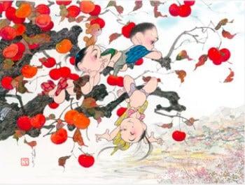画像:11-12月 里山 風の詩・中島潔作品集 2020年カレンダー