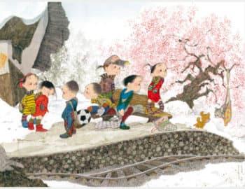 画像:1-2月 新しい春 風の詩 中島潔作品集(フィルムカレンダー) 2020年カレンダー