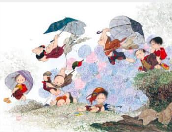 画像:5-6月帰り道の風景 風の詩 中島潔作品集(フィルムカレンダー) 2020年カレンダー