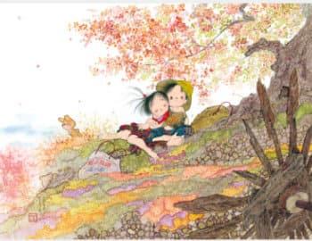 画像:9-10月 ふれあい 風の詩 中島潔作品集(フィルムカレンダー) 2020年カレンダー