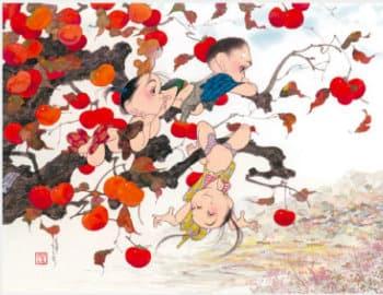 画像:11-12月 里山 風の詩 中島潔作品集(フィルムカレンダー) 2020年カレンダー