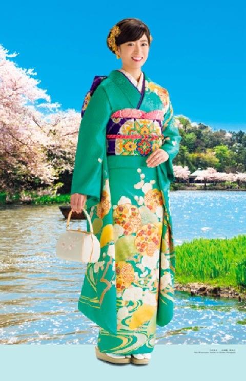 画像:3-4月 南沢奈央 三渓園(神奈川) 女優・すがた 2020年カレンダー