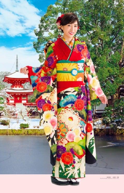 画像:11-12月 南沢奈央 大覚寺(京都) 女優・すがた 2020年カレンダー