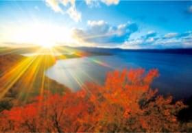 画像:9月 明日香村(奈良) 輝く太陽 2020年カレンダー