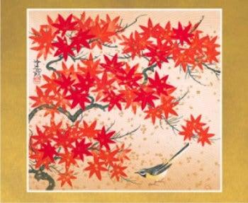 画像:11-12月 紅葉(部分) 花鳥諷詠 -石踊達哉-2020年カレンダー