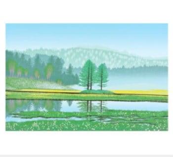 画像:5-6月 遥かなる湿原 小暮真望版画集 2020年カレンダー