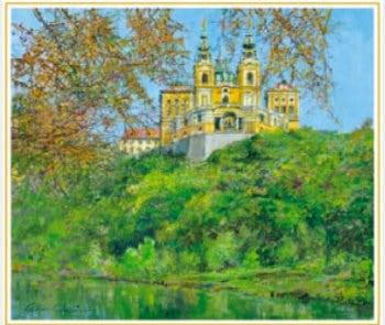 画像:9-10月 秋のメルク修道院(オーストリア) 欧羅巴を描く 小田切訓 2020年カレンダー