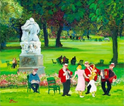 画像:3-4月 春のリュクサンブール公園 Love Paris・田中善明作品集 2020年カレンダー