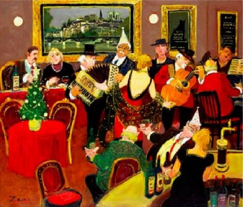 画像:11-12月 クリスマスのシャンソニエ Love Paris・田中善明作品集 2020年カレンダー