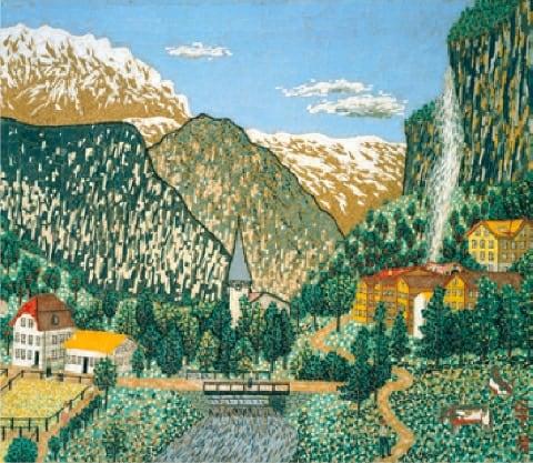 画像:5-6月 スイス風景 山下清作品集 2020年カレンダー