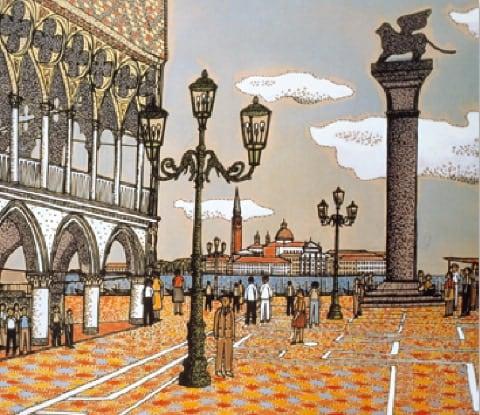 画像:9-10月 ベニスのサンマルコ寺院 山下清作品集 2020年カレンダー
