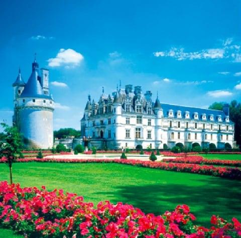 画像:1-2月 シュノンソー城(フランス) ワイドヨーロッパ(フィルムカレンダー) 2020年カレンダー