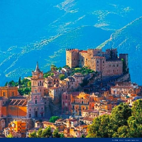 画像:カッカモ城(イタリア) 絶景 世界の城(フィルムカレンダー) 2020年カレンダー