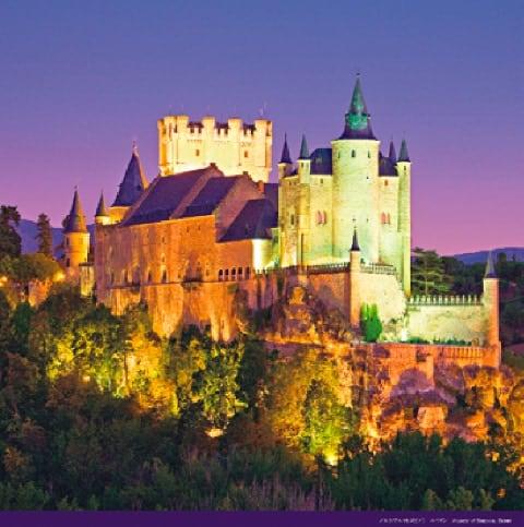 画像:3-4月 アルカサル(スペイン) 絶景 世界の城(フィルムカレンダー) 2020年カレンダー