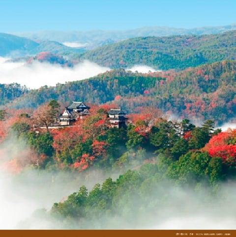 画像:9-10月 備中松山城(日本) 絶景 世界の城(フィルムカレンダー) 2020年カレンダー