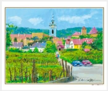 画像:1-2月 ウィーン郊外の村(オーストリア) ヨーロッパの印象 小田切訓(フィルムカレンダー) 2020年カレンダー