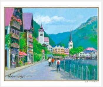 画像:7-8月 ハルシュタット湖畔の道(オーストリア) ヨーロッパの印象 小田切訓(フィルムカレンダー) 2020年カレンダー