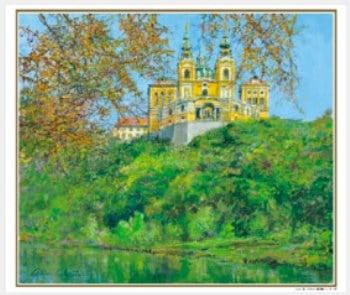 画像:9-10月 秋のメルク修道院(オーストリア) ヨーロッパの印象 小田切訓(フィルムカレンダー) 2020年カレンダー