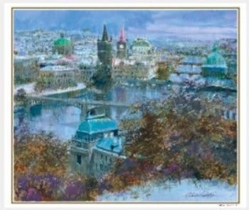 画像:11-12月 雪のプラハ(チェコ) ヨーロッパの印象 小田切訓(フィルムカレンダー) 2020年カレンダー
