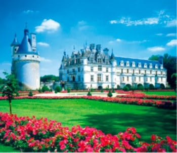 画像:1-2月 シュノンソー城(フランス) 世界の名勝(フィルムカレンダー・小) 2020年カレンダー