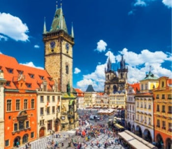 画像:7-8月 プラハ(チェコ) 世界の名勝(フィルムカレンダー・小) 2020年カレンダー