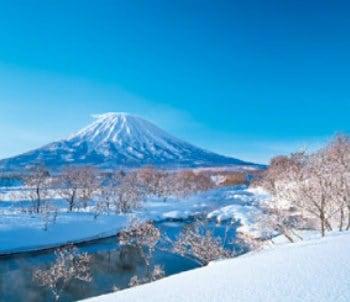 画像:1-2月 尻別川と羊蹄山(北海道) せせらぎの詩(フィルムカレンダー・小) 2020年カレンダー