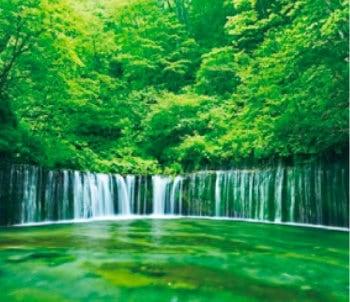 画像:5-6月 白糸の滝(長野) せせらぎの詩(フィルムカレンダー・小) 2020年カレンダー