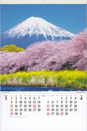 画像:潤井川龍巖淵より富士山(静岡) 富士山(フィルムカレンダー) 2020年カレンダー