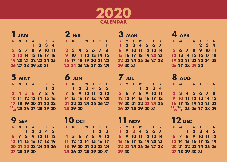 画像:12月裏面 デスクスタンド・クラフト 2020年カレンダー