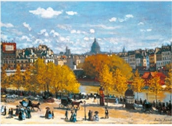 画像:9-10月 ルーヴル河岸 モネ 2020年カレンダー