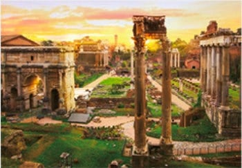 画像:11月 ローマ歴史地区、教皇領とサン・パオロフォーリ・レ・ムーラ大聖堂(イタリア) 魅惑の世界遺産 2020年カレンダー