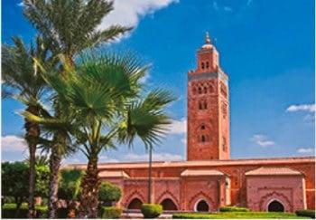 画像:8月 マラケシ旧市街(モロッコ) 魅惑の世界遺産 2020年カレンダー