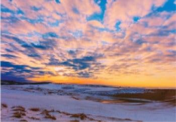 画像:12月 鳥取砂丘夕景(鳥取) 天地自然・森田敏隆写真集 2020年カレンダー