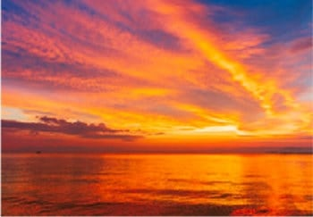 画像:8月 琵琶湖夕景(滋賀) 天地自然・森田敏隆写真集 2020年カレンダー