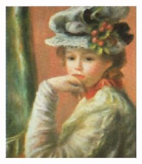 画像:11-12月 白い帽子の少女 ルノワール 2020年カレンダー