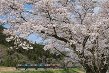画像:3-4月 水郡線(水戸~安積長盛) 茨城・福島 ローカル線紀行 2020年カレンダー