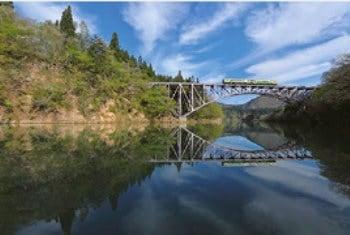 画像:5-6月 只見線(会津桧若松~小出) 福島・新潟 ローカル線紀行 2020年カレンダー