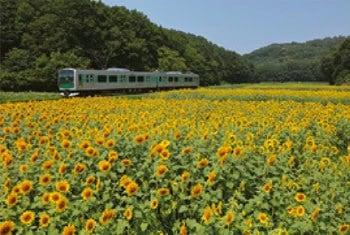 画像:7-8月 鳥山線(宝積寺~烏山) 栃木 ローカル線紀行 2020年カレンダー