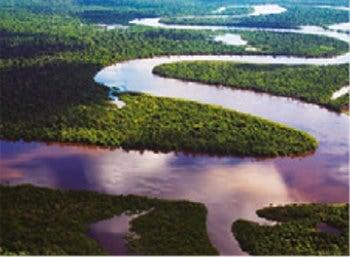 画像:3月 アマゾン川 スカイジャーニー 2020年カレンダー
