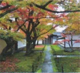 画像:10月 大徳寺(京都) 庭の詩情 2020年カレンダー