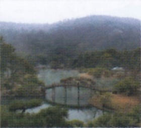 画像:2月 栗林公園(香川) 庭の詩情 2020年カレンダー
