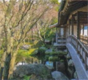 画像:3月 好古園(兵庫) 庭の詩情 2020年カレンダー